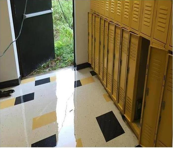 Storm Damage – Seminole Locker Room Before