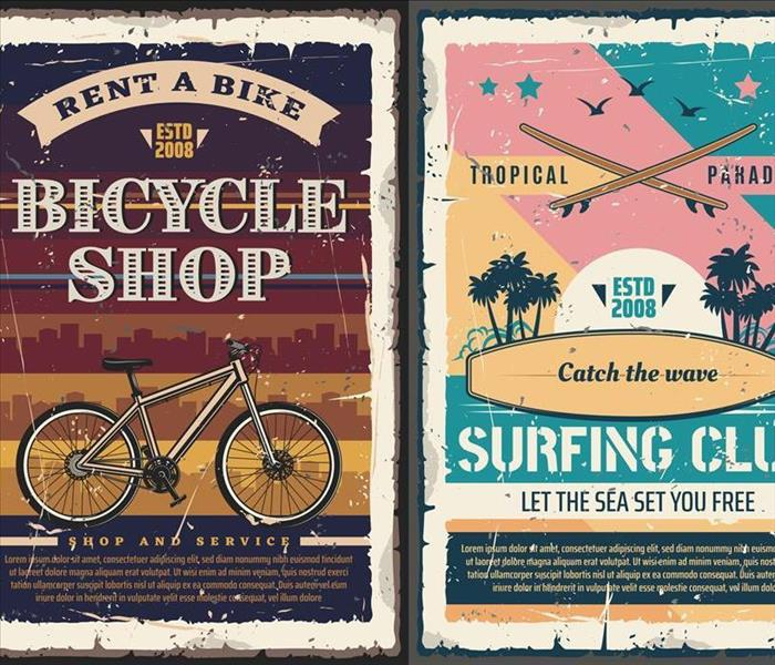 signage of bike and surf shop